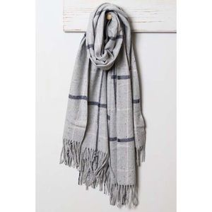 Gray plaid scarf - gift box available!